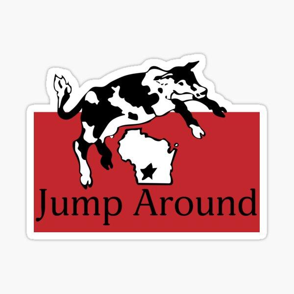 Spotted Cow Jump Around Sticker