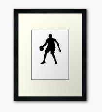 Basketball Player Silhouette 1 Framed Print