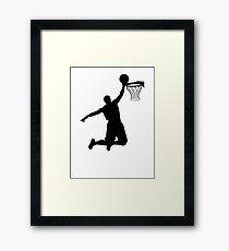 Basketball Player Silhouette 2 Framed Print