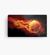 Fiery Basketball Metal Print