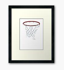 Basketball Hoop Net Framed Print
