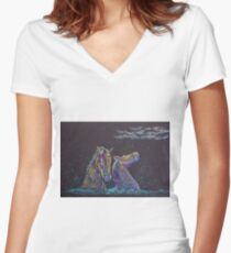 The Kelpies Women's Fitted V-Neck T-Shirt