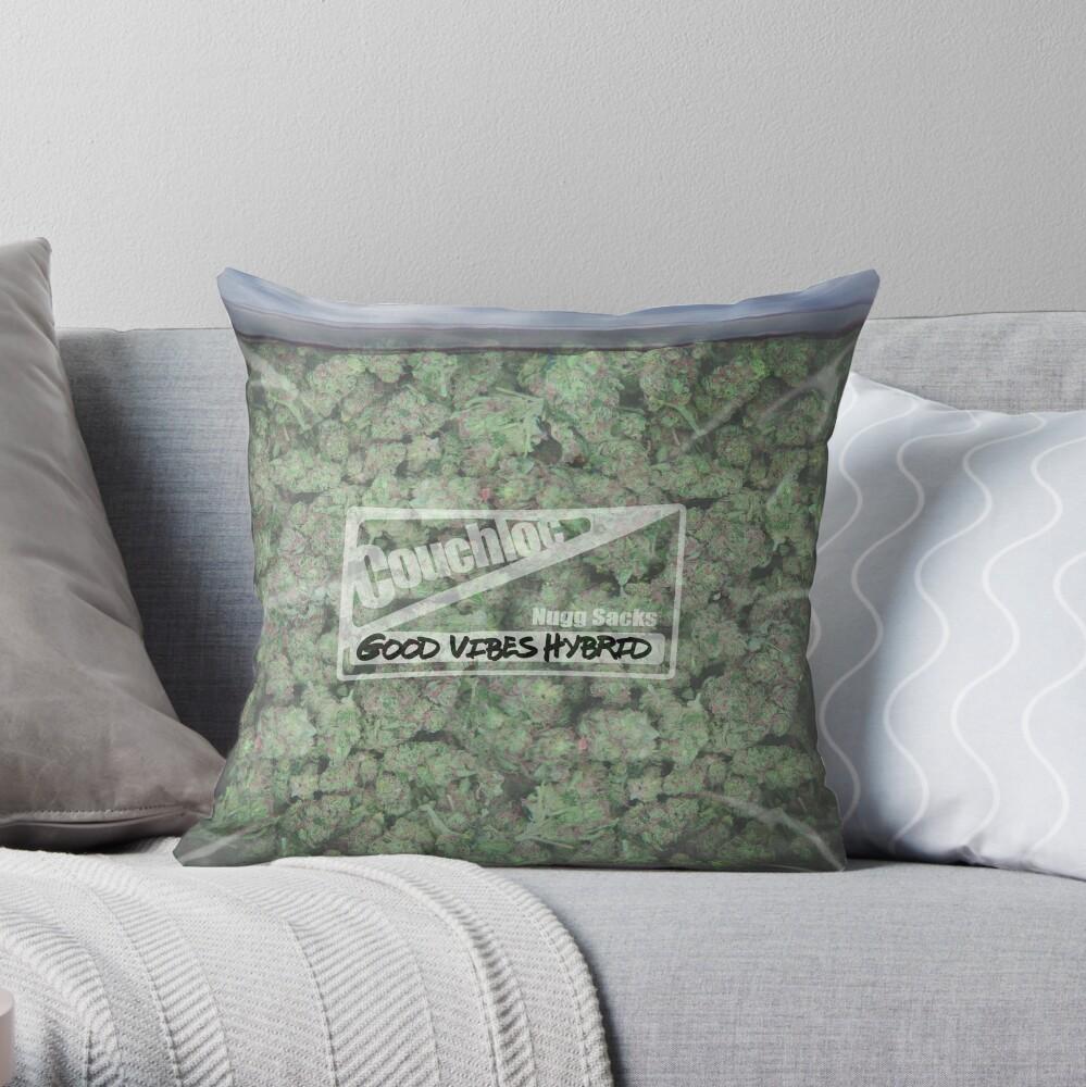 The Big Bag of Weed pillow Throw Pillow