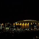 Orange Supermoon Over Carrier Dome by janetlee