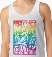 Rainbow Stained Glass Pattern Tank Top