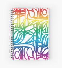 Rainbow Stained Glass Pattern Spiral Notebook