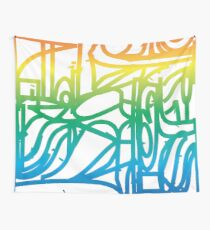 Rainbow Stained Glass Pattern Wall Tapestry