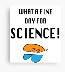 What a fine day for science! Canvas Print