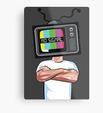 Fernsehen Metallbild