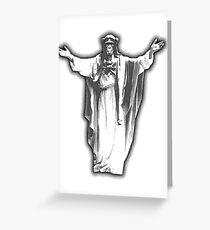 Jesus Chimp Greeting Card