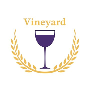 Vineyard Logo Style Label by Krukowski