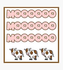 MOO (Cow sound) Photographic Print