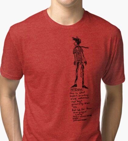 Aloof Melbourne Rock Boy Warning Tri-blend T-Shirt