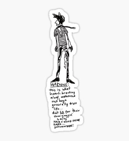 Aloof Melbourne Rock Boy Warning Sticker