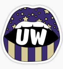 UW Lips Sticker