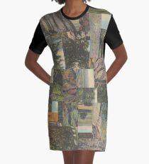 Tree Points Drop Graphic T-Shirt Dress