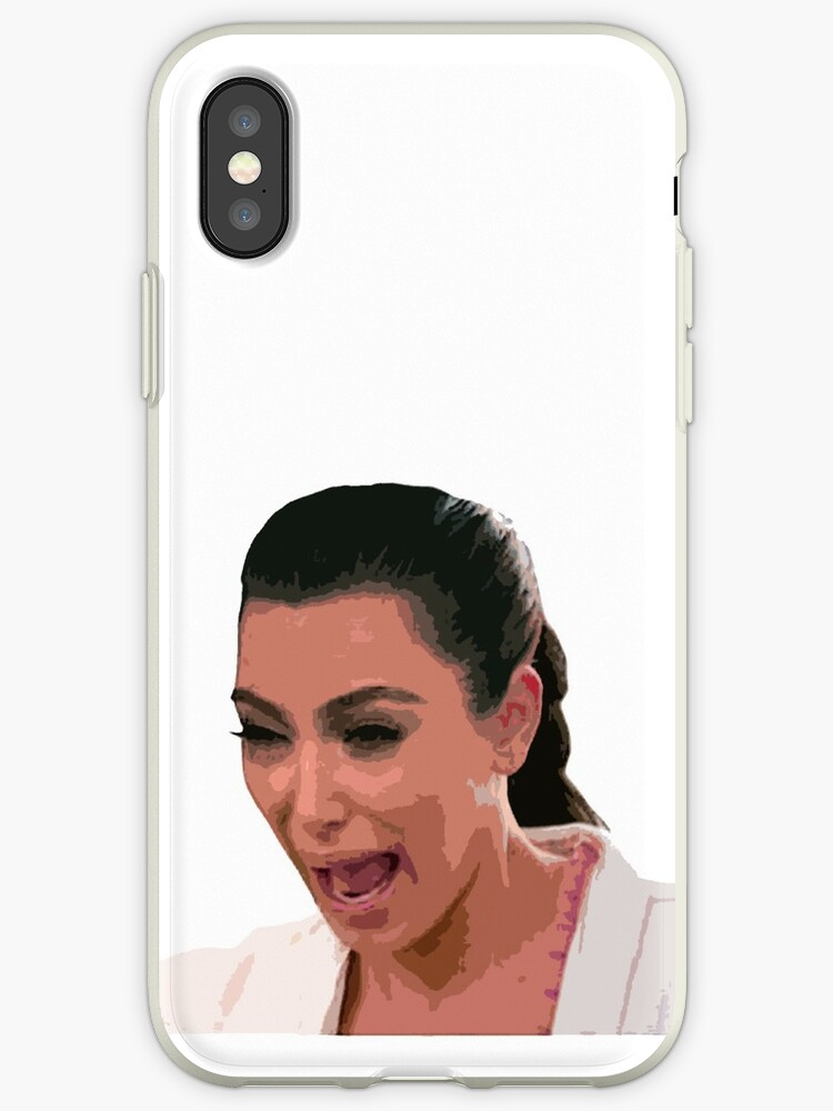 brand new e9122 f6181 'Kim Kardashian Crying Face' iPhone Case by livpaigedesigns