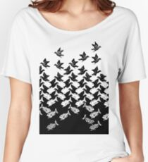 Fish and Birds Art Deco Tessellation Women's Relaxed Fit T-Shirt