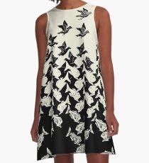 Fish and Birds Art Deco Tessellation A-Line Dress