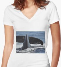 Eternal Moment At Sea Women's Fitted V-Neck T-Shirt