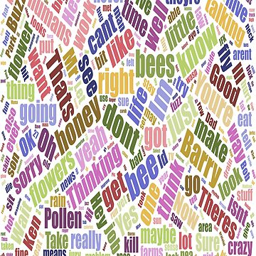 Bee Movie Script Word Cloud by caccitore