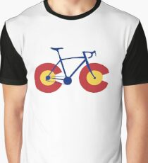 Colorado Flag Bicycle Graphic T-Shirt