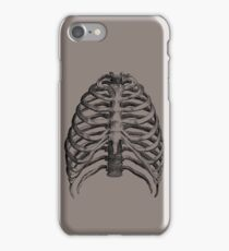 Vintage Skeleton Rib Cage Half Tone Sketch iPhone Case/Skin