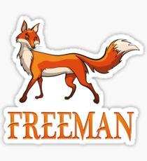 Freeman Fox Sticker