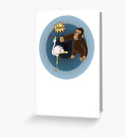 Crane Style Versus Monkey Fist Greeting Card
