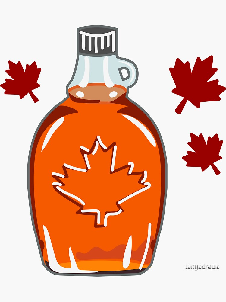 Super Canadian Maple Syrup Pattern by tanyadraws