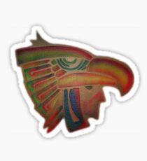 ©AeroArt Aztec Eagle Warrior  Caballero Aguila Sticker
