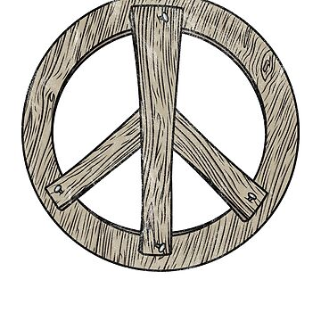 Wooden Vintage Peace Sign by RadicalChill