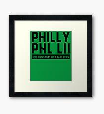 Super Fan Philly PHL LII Under Dogs as Winners Framed Print