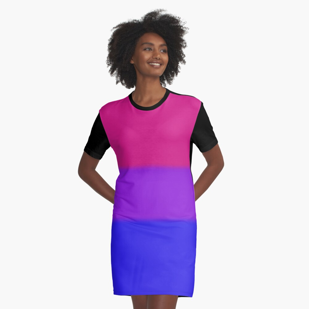 Bisexual Pride Flag Graphic T-Shirt Dress