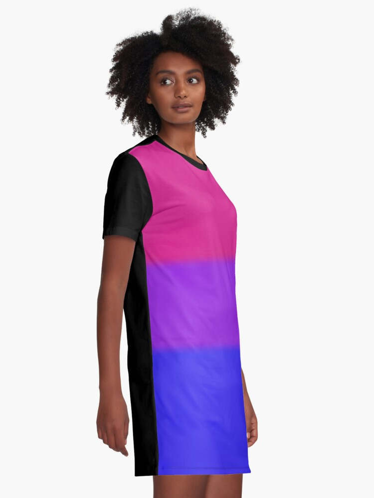 Alternate view of Bisexual Pride Flag Graphic T-Shirt Dress