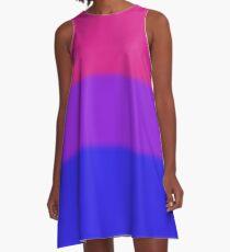 Bisexual Pride Flag A-Line Dress