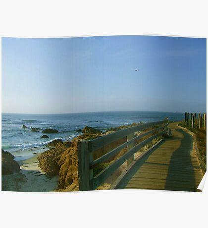 Boardwalk at Pebble Beach Poster
