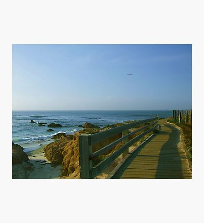 Boardwalk at Pebble Beach Photographic Print