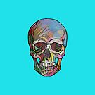 The Happy Skull (Blue) by Diego-t