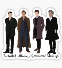 doctor catchphrases Sticker