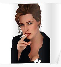 Gillian Anderson Smoking Poster