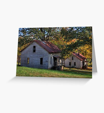 Henry River Mill Houses Greeting Card