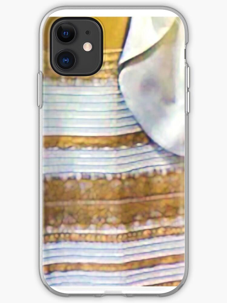 Vinilo O Funda Para Iphone Famoso Vestido Blanco Dorado De Sneuvelnation
