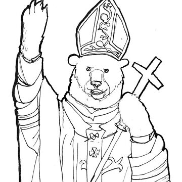 Bear Pope by delilahdesanges