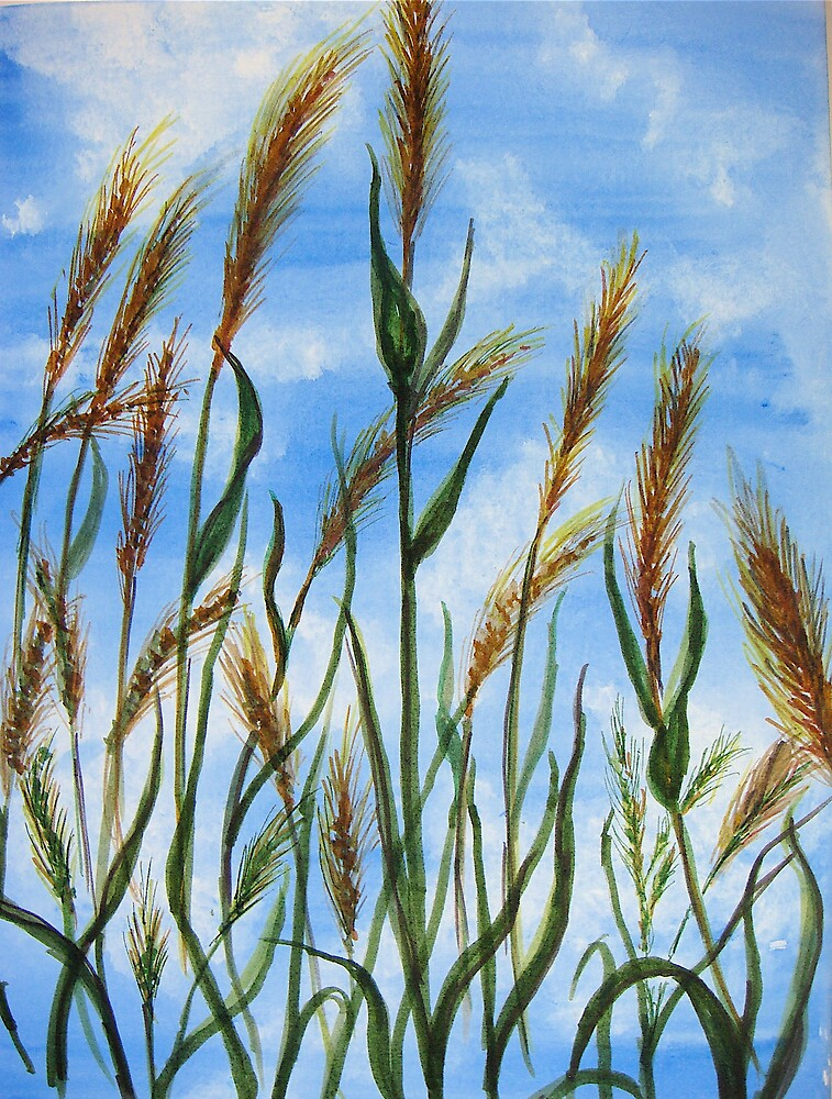 Wheat in the Wind by inker1