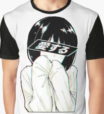 LOVE(Japanese) - Sad Japanese Aesthetic Graphic T-Shirt