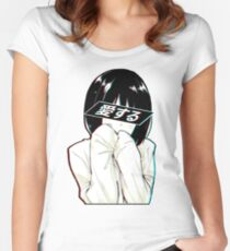 LOVE(Japanese) - Sad Japanese Aesthetic Women's Fitted Scoop T-Shirt