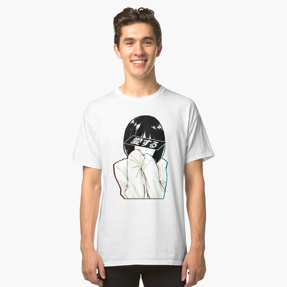 LOVE (Japanisch) - Sad Japanese Aesthetic Classic T-Shirt Vorne