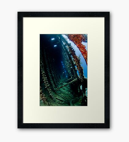 Carnatic wreck inside Framed Print