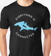 Everything is Connected Shirt Cat Shark Unisex T-Shirt